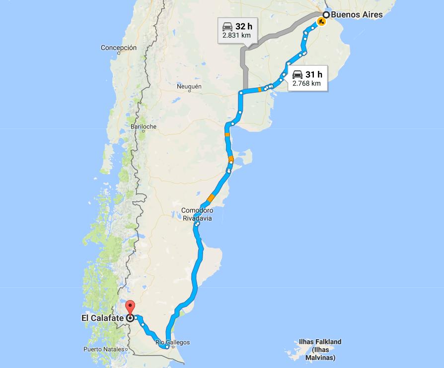 Como Chegar em El Calafate Argentina 2