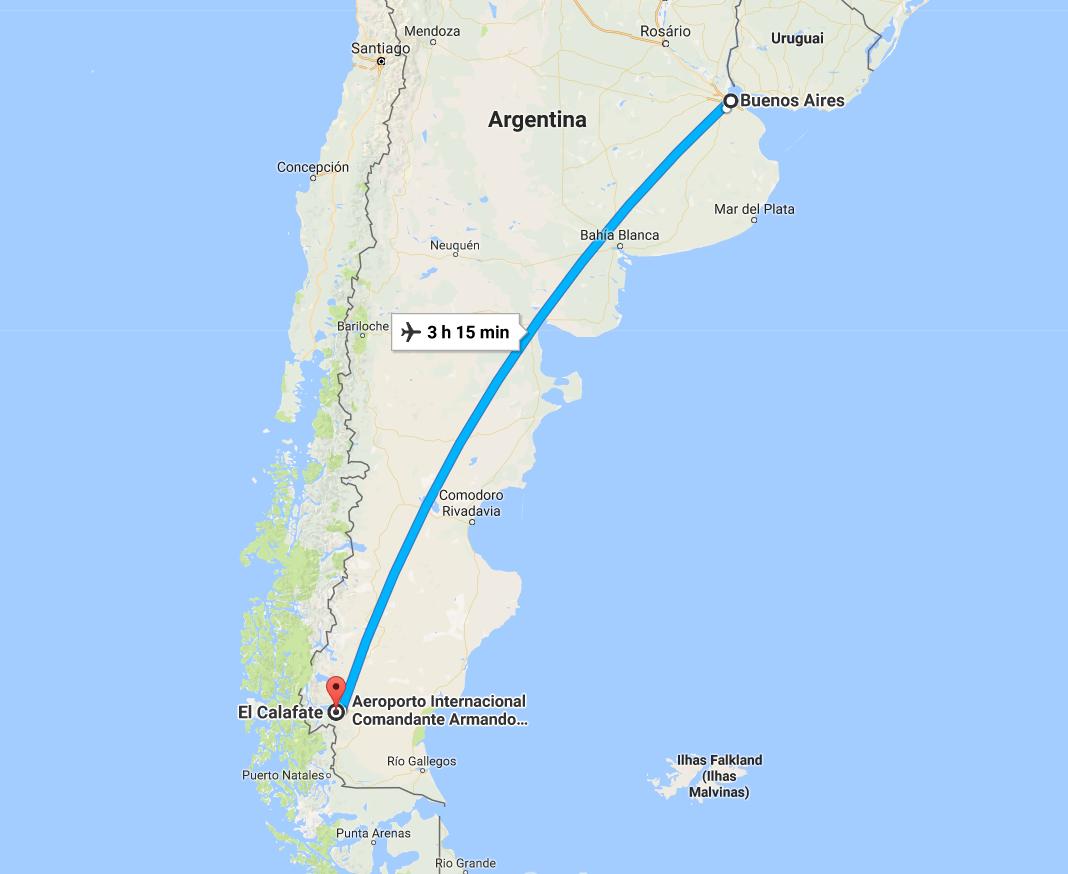 Como Chegar em El Calafate Argentina