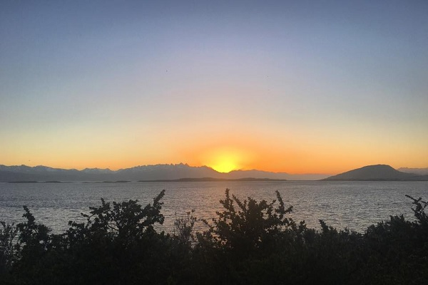 Pôr do sol em Ushuaia, na Argentina